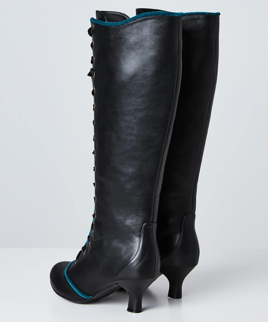 Spellbound Tall Lace Up Boots Back