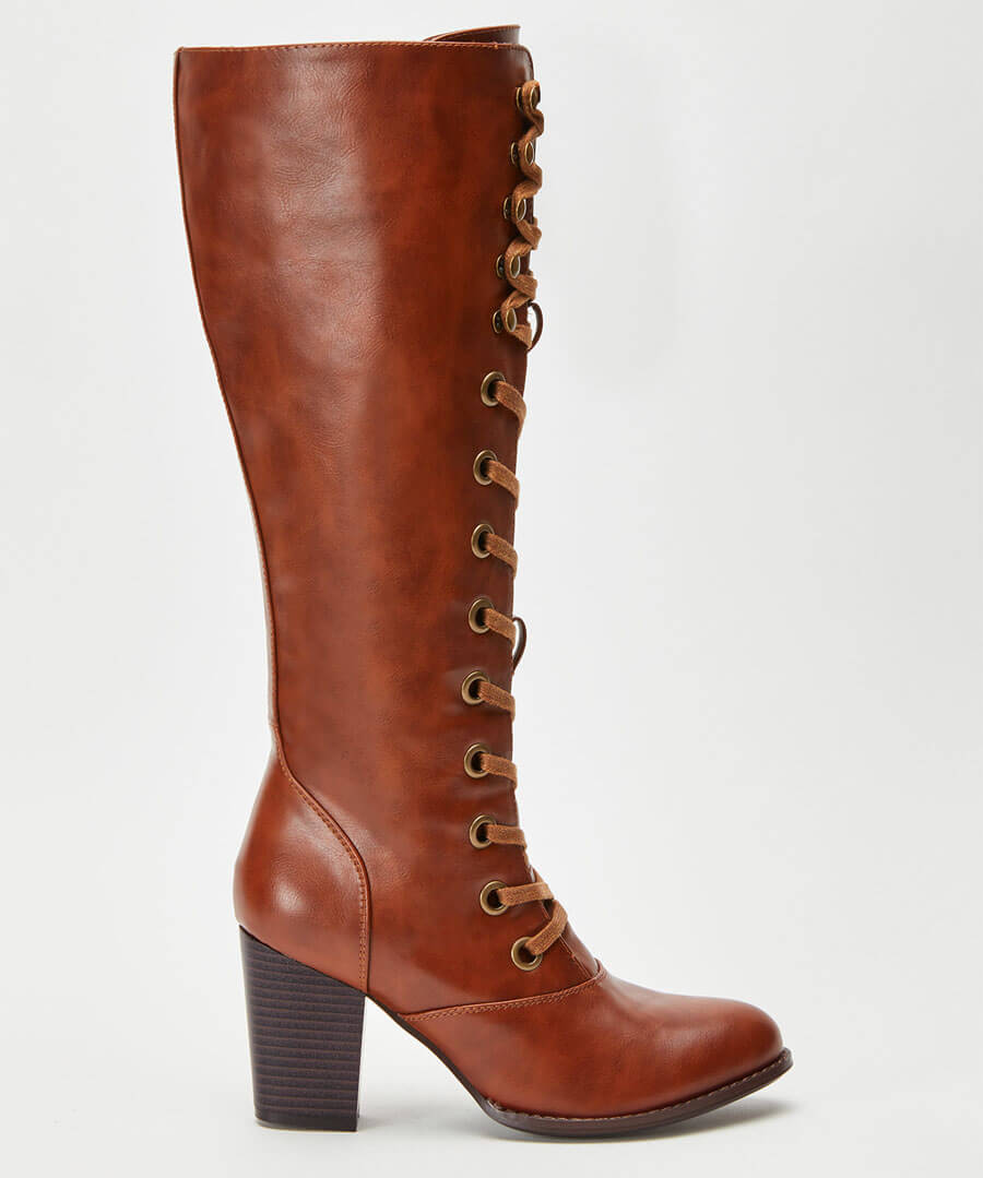 This Seasons Tall Lace Up Boots