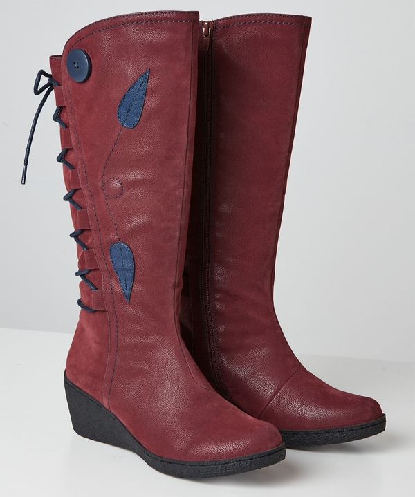 Feeling Free Lace Back Boots