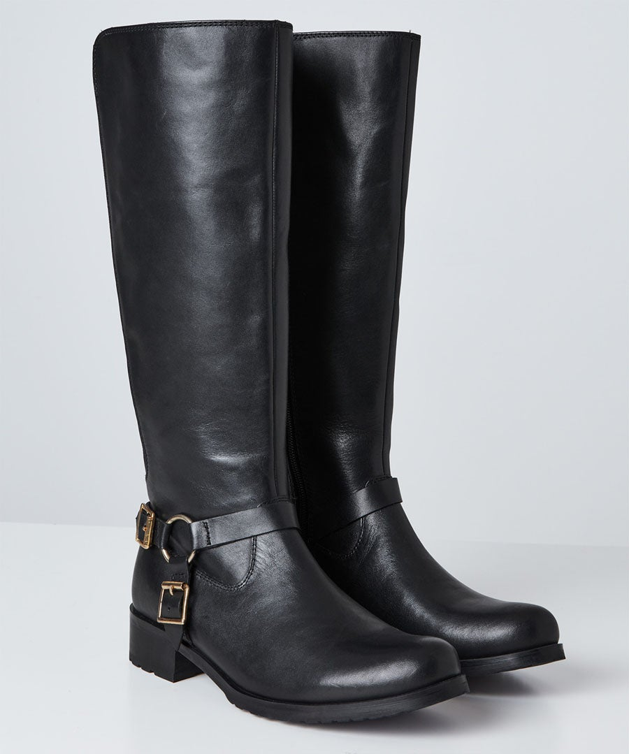 Swish Leather Riding Boots Model Front