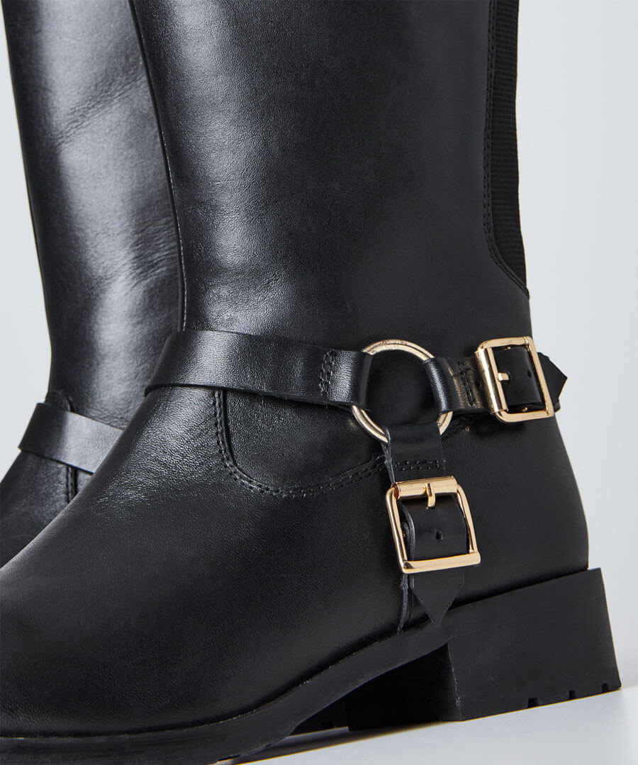 Swish Leather Riding Boots Model Back