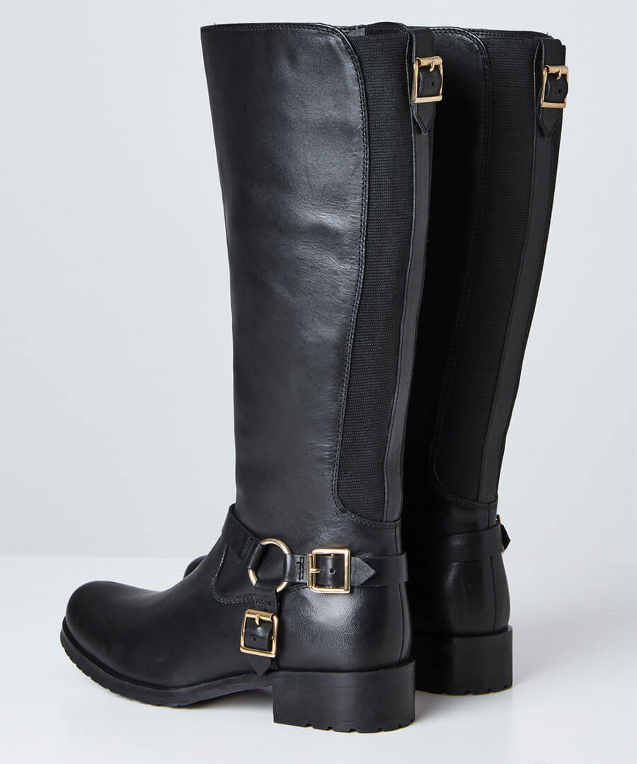 Swish Leather Riding Boots Back