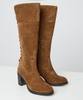 Bella Suede Lace Back Boots