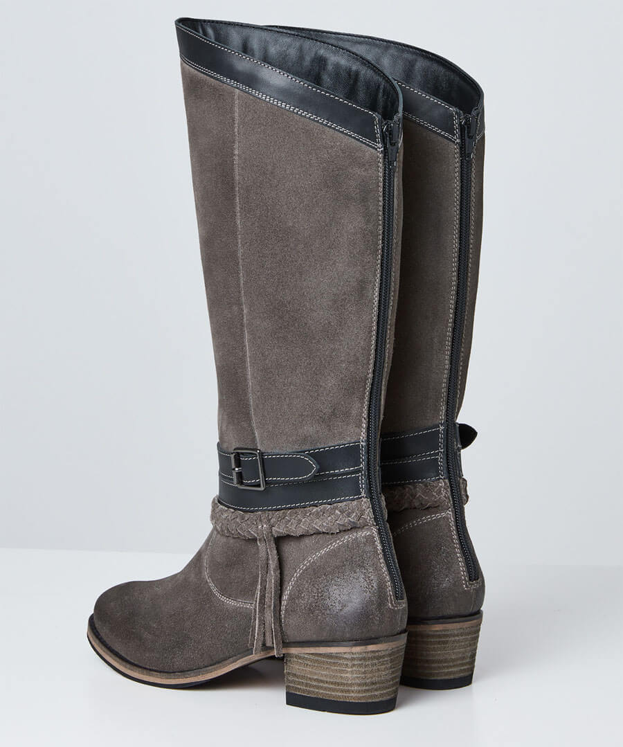 Beautiful And Boho Leather Boots Back