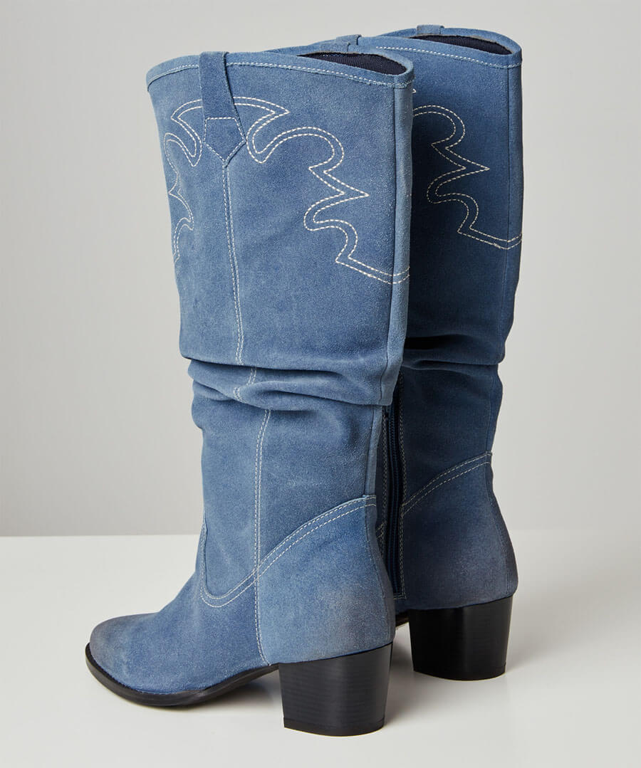 Sundown Suede Slouch Boots Back
