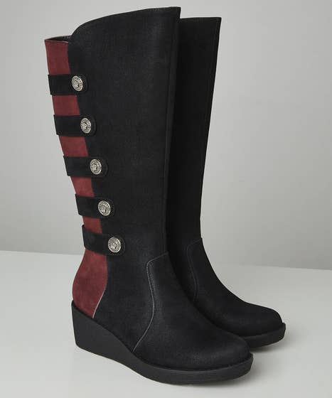 After Dark Wedge Boots