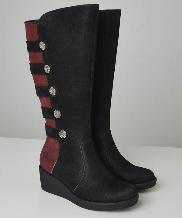 After Dark Wedge Boots