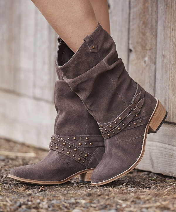 A Touch Of Boho Suede Boots