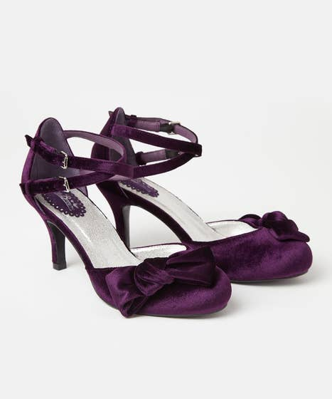 Very Velvet Double Strap Shoes