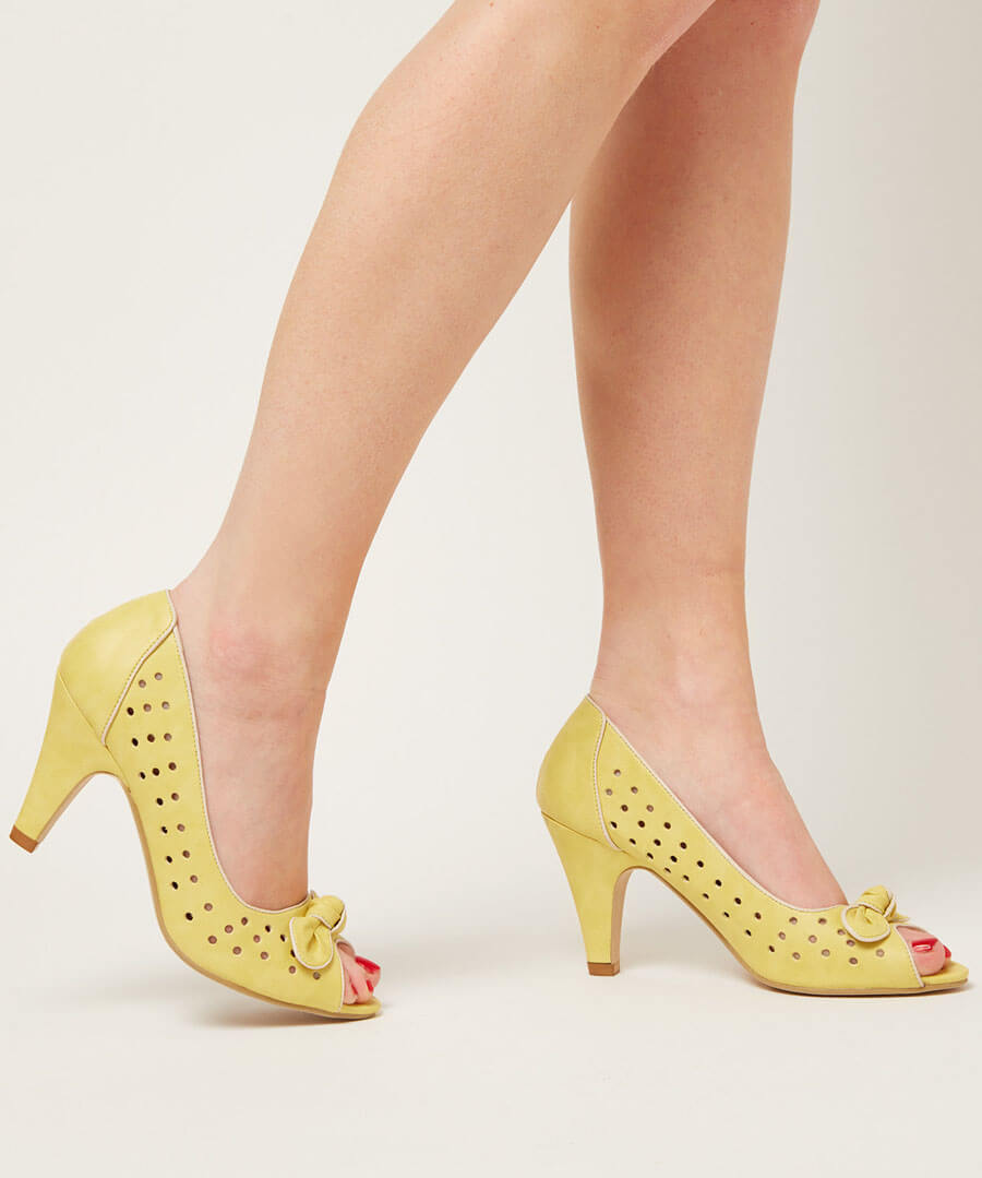 Young At Heart Peep Toes Model Back