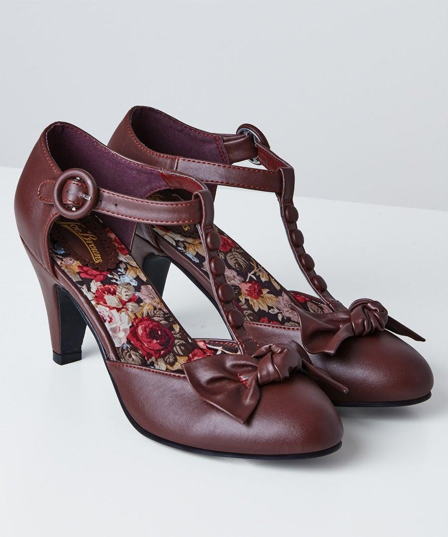 Hey Misbehavin T-Bar Shoes Model Front
