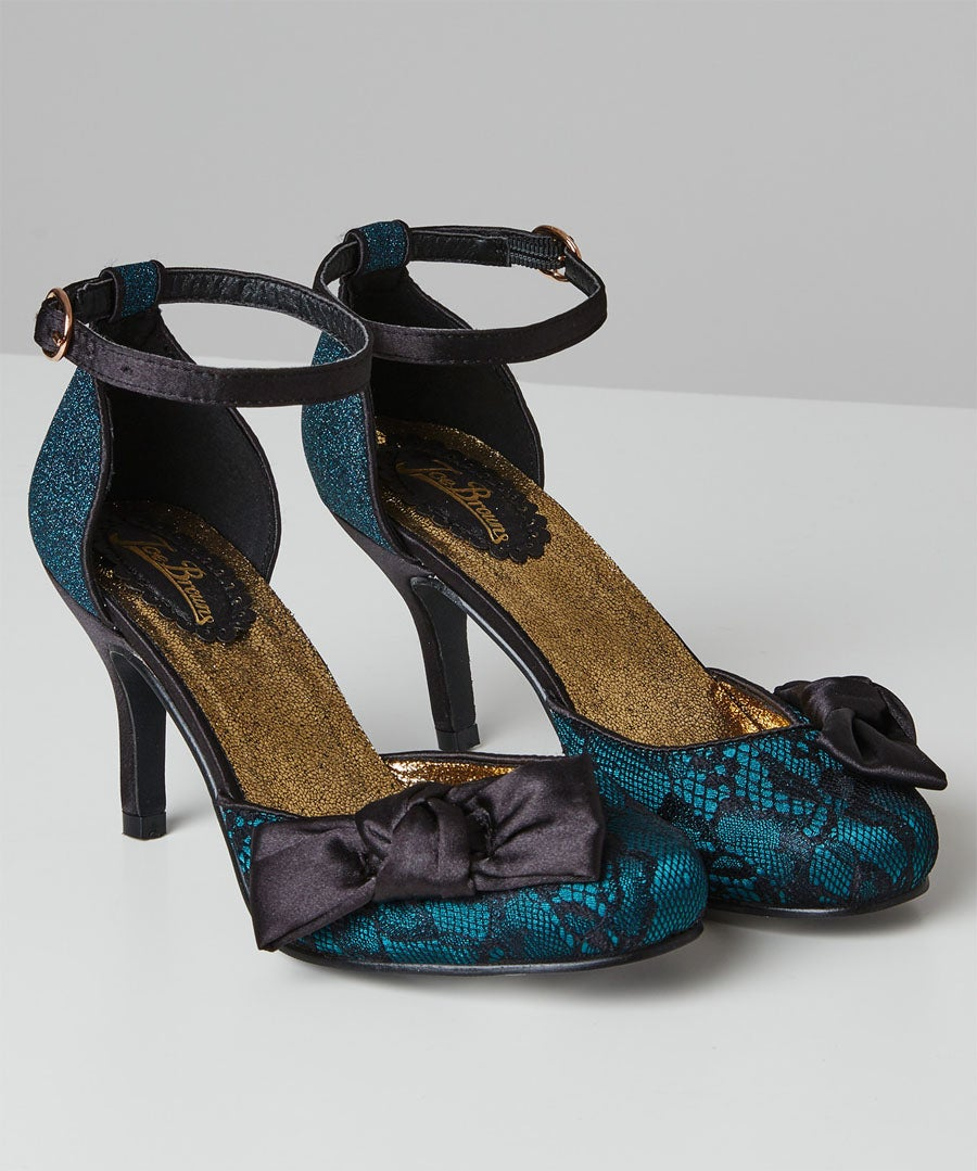 Starlet Lace Evening Shoes Model Front