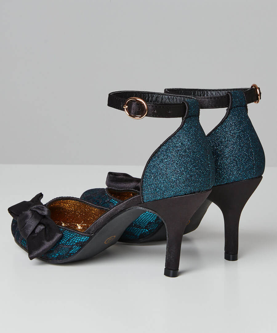 Starlet Lace Evening Shoes Back