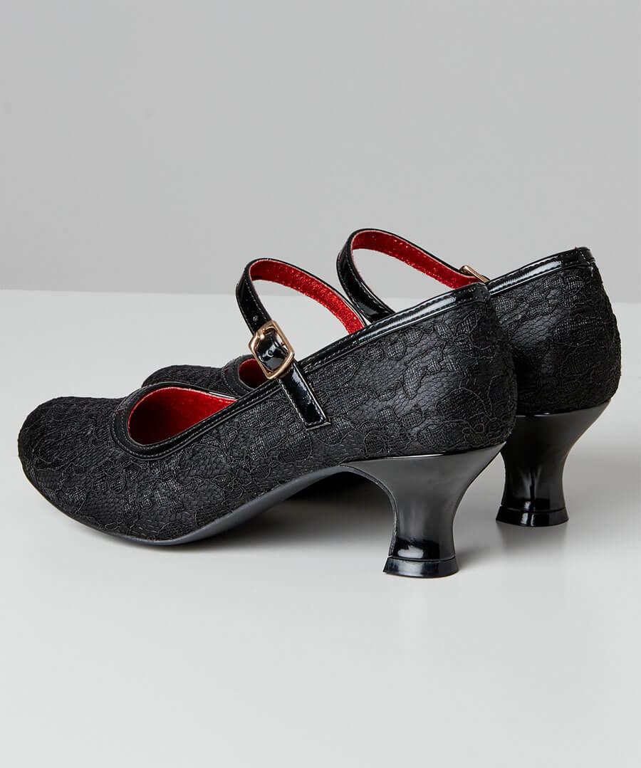 Lovely Lace Vintage Shoes Back