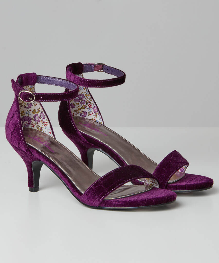 Shall We Dance Velvet Shoes Model Front