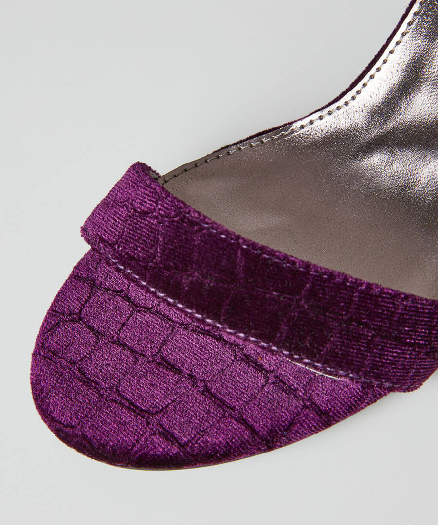 Shall We Dance Velvet Shoes Model Back