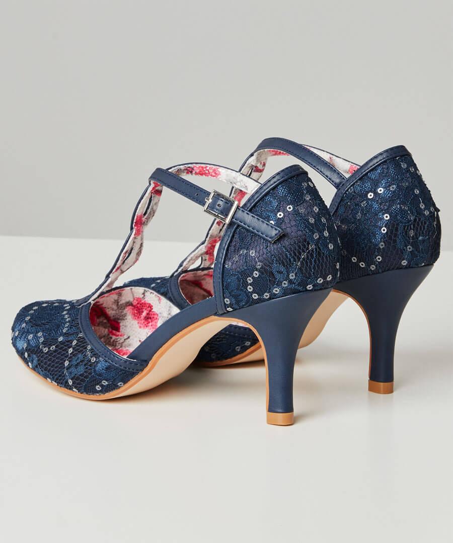 Moonlit Lace T-Bar Shoes Back