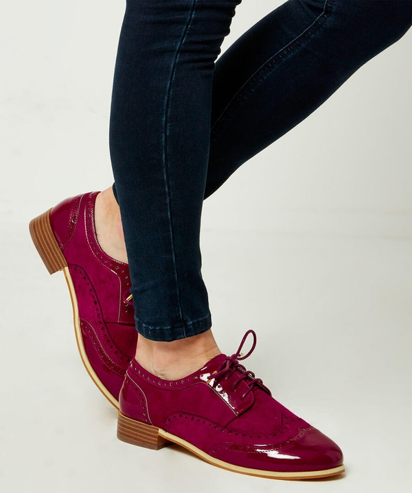 Jazzy Red Patent Brogues