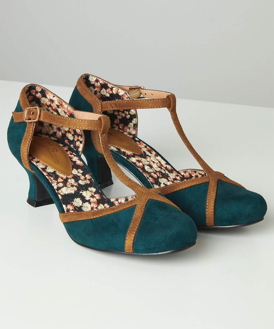 1960s Shoes: 8 Popular Shoe Styles Bees Knees T-Bar Shoes $35.00 AT vintagedancer.com