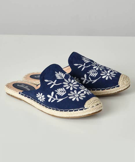 No Plans Embroidered Mules