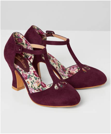 1950s Style Clothing & Fashion Dance Hall T-Bar Shoes $49.00 AT vintagedancer.com