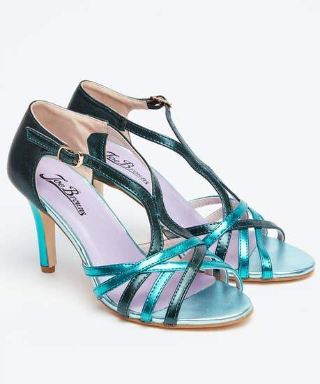 Valentino Strappy Metallic Sandals