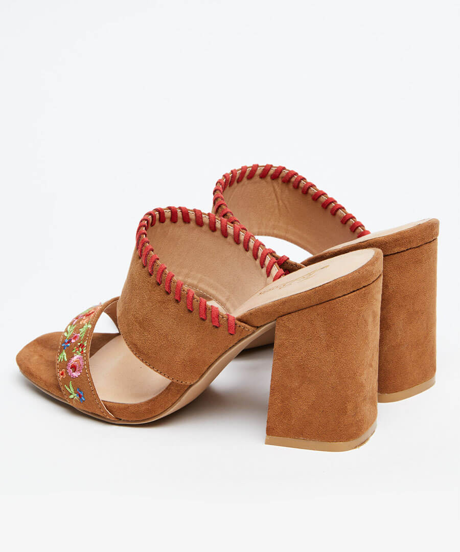 Charismatic Embroidered Mules Back