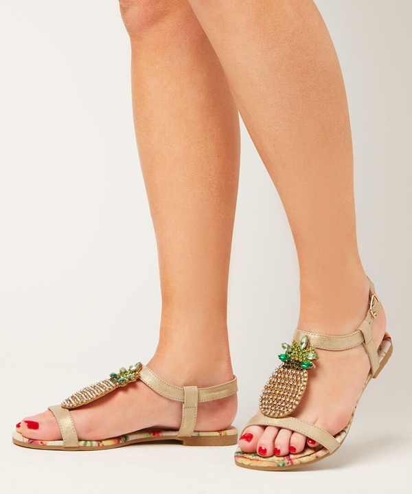 Totally Tropical Flat Sandals