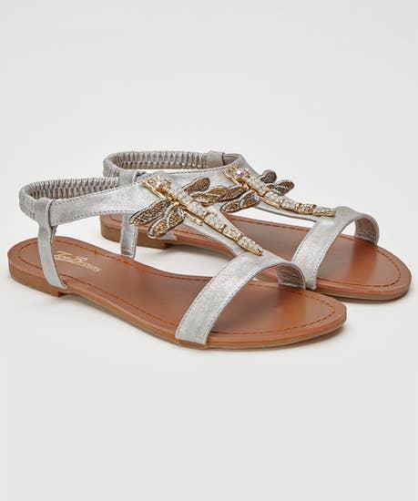 Shimmer Dragonfly Sandals