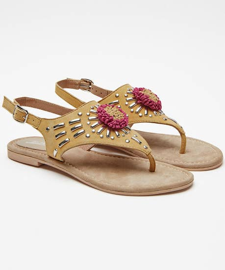 Suede Studded Sandals