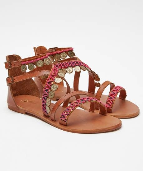 Ibiza Sunset Leather Sandals