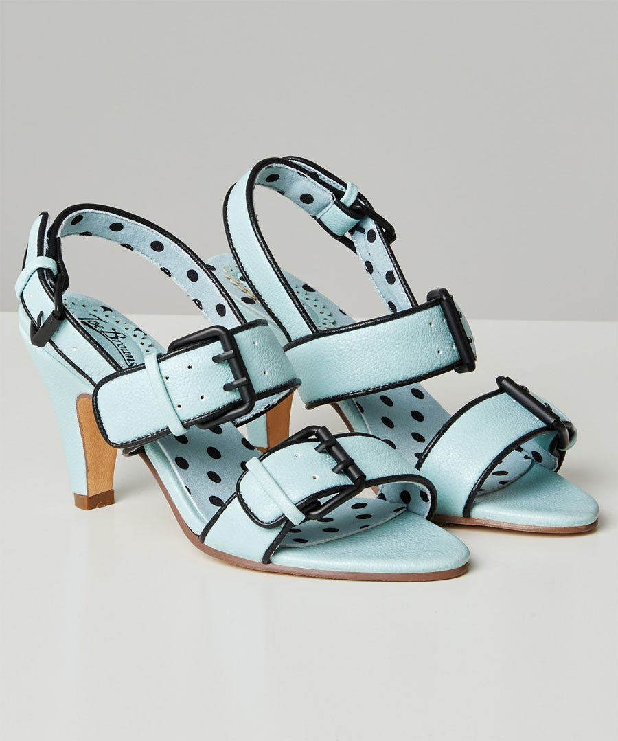 Carnaby St Buckle Sandals Model Front