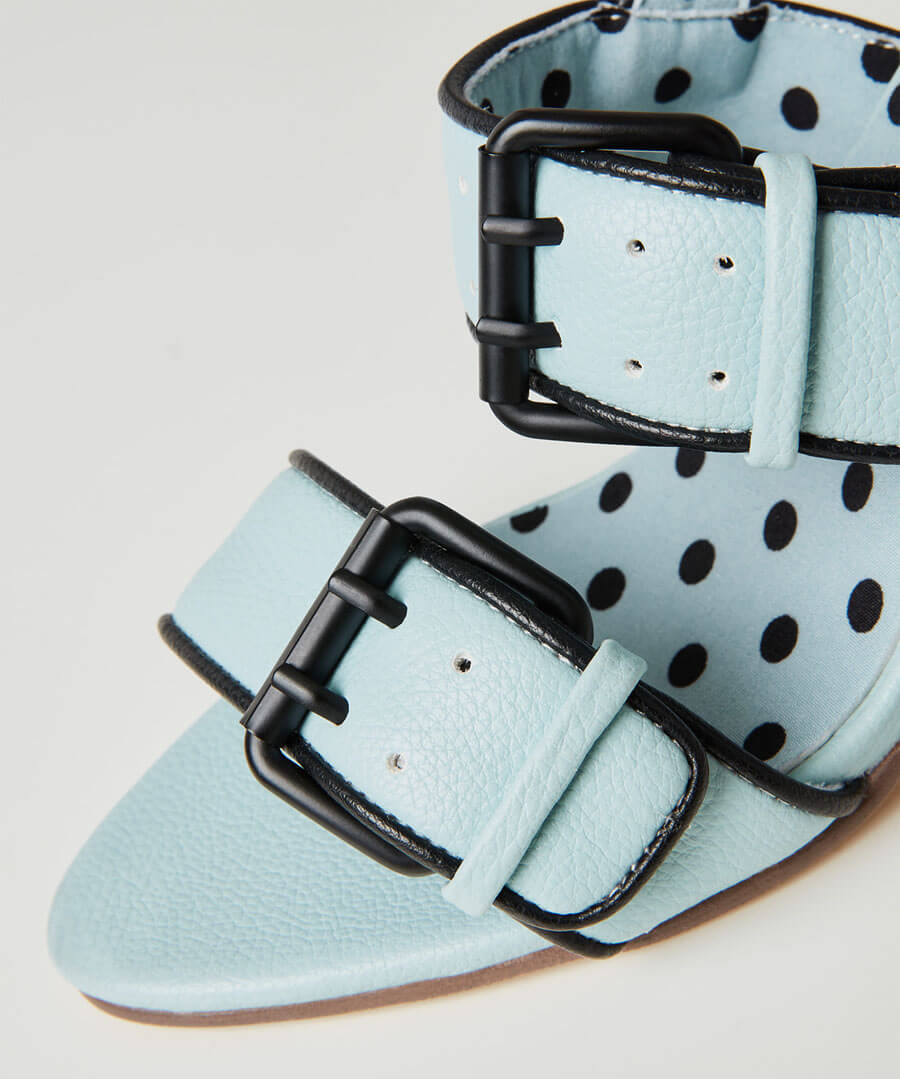 Carnaby St Buckle Sandals Model Back