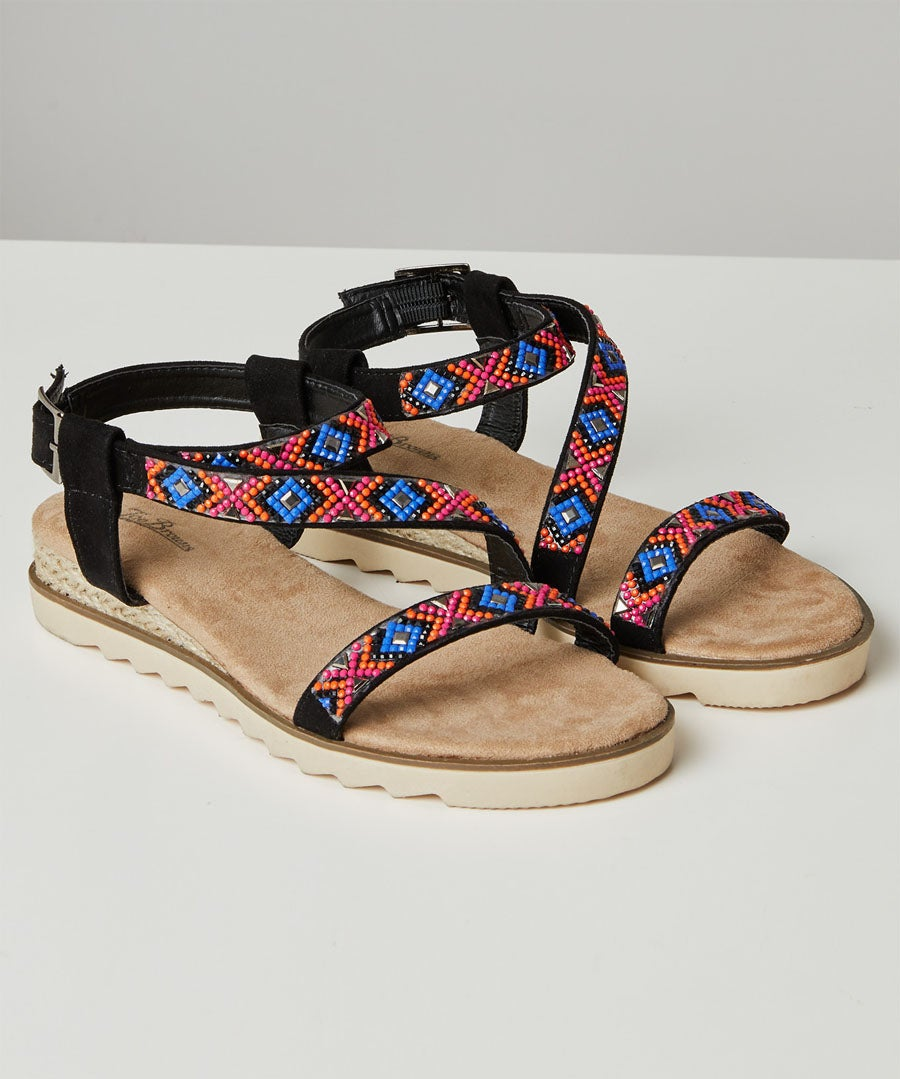 Breeze On The Bay Sandals Model Front