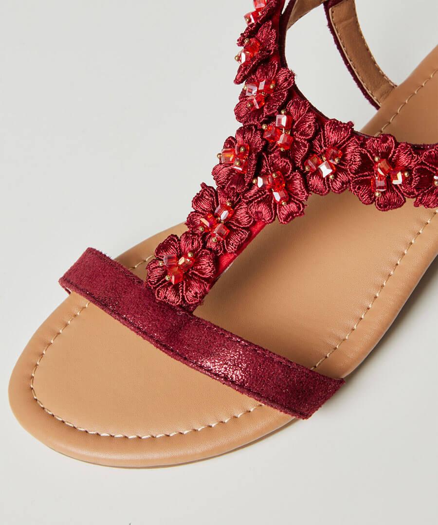 Turning Heads Shimmer Sandals Model Back