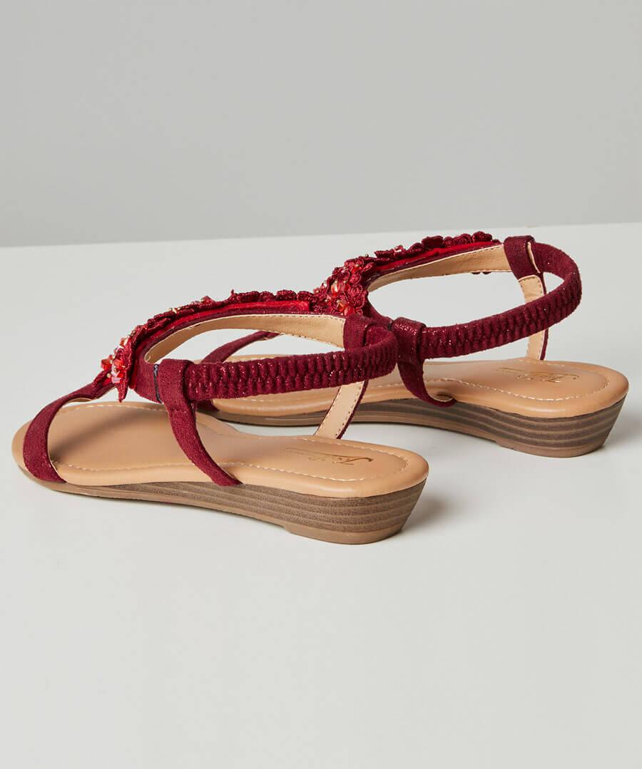 Turning Heads Shimmer Sandals Back