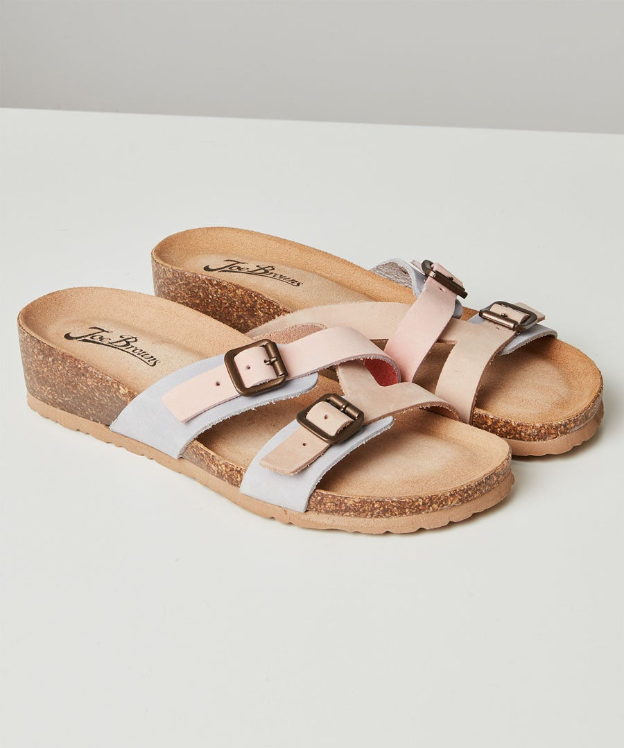 Ti Adoro Nubuck Leather Sandals Model Front