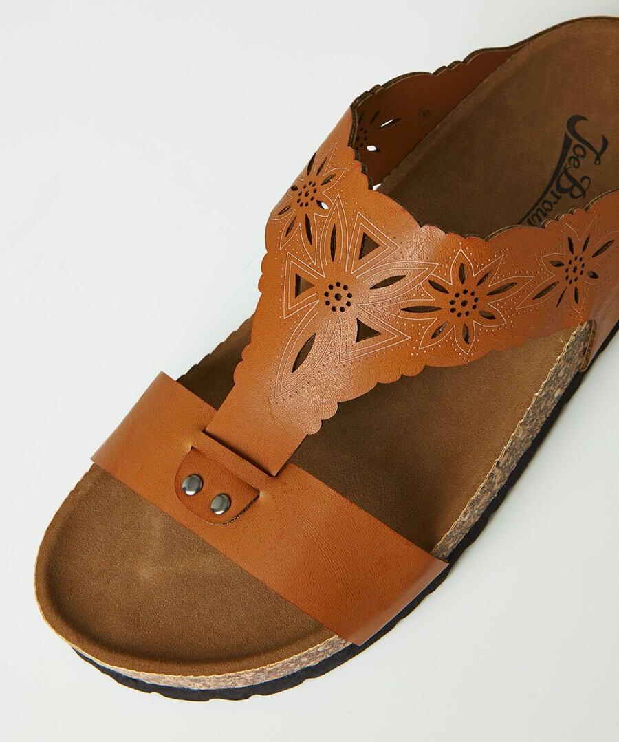 Evangeline Laser Cut Sandals Back