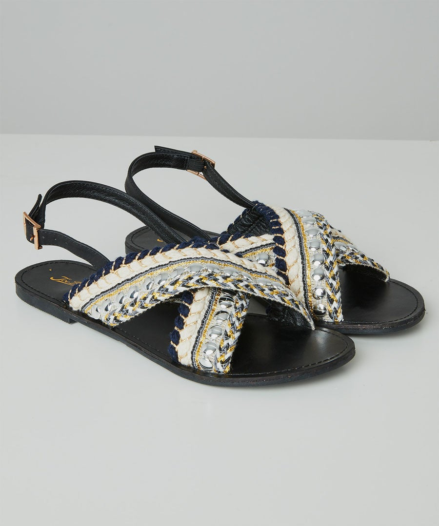 Cala Blanca Sandals Model Front