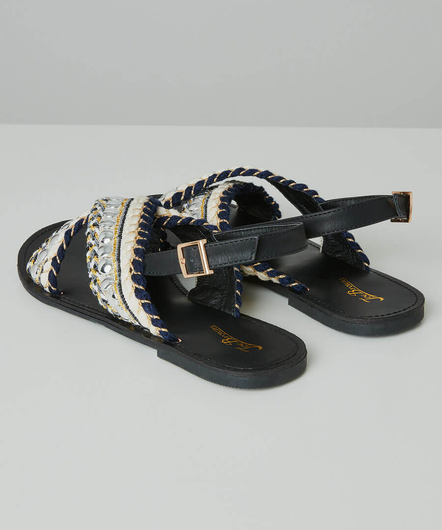 Cala Blanca Sandals Model Back