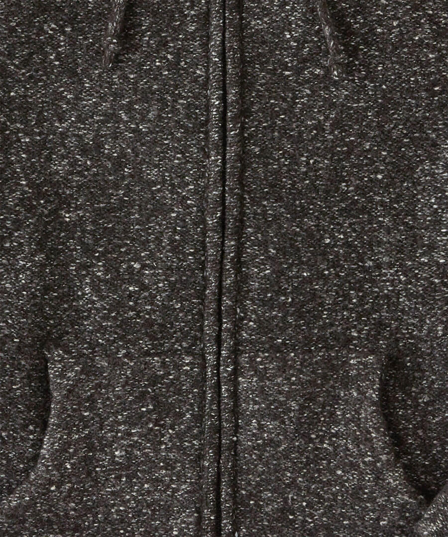 Hooded Zip Knit Back