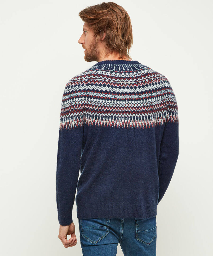 Wonderful Winter Knit Model Back