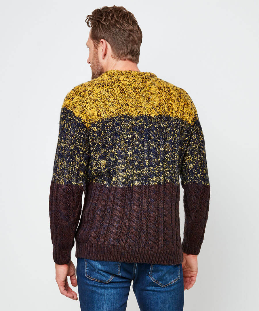 Creative Cable Knit Model Back
