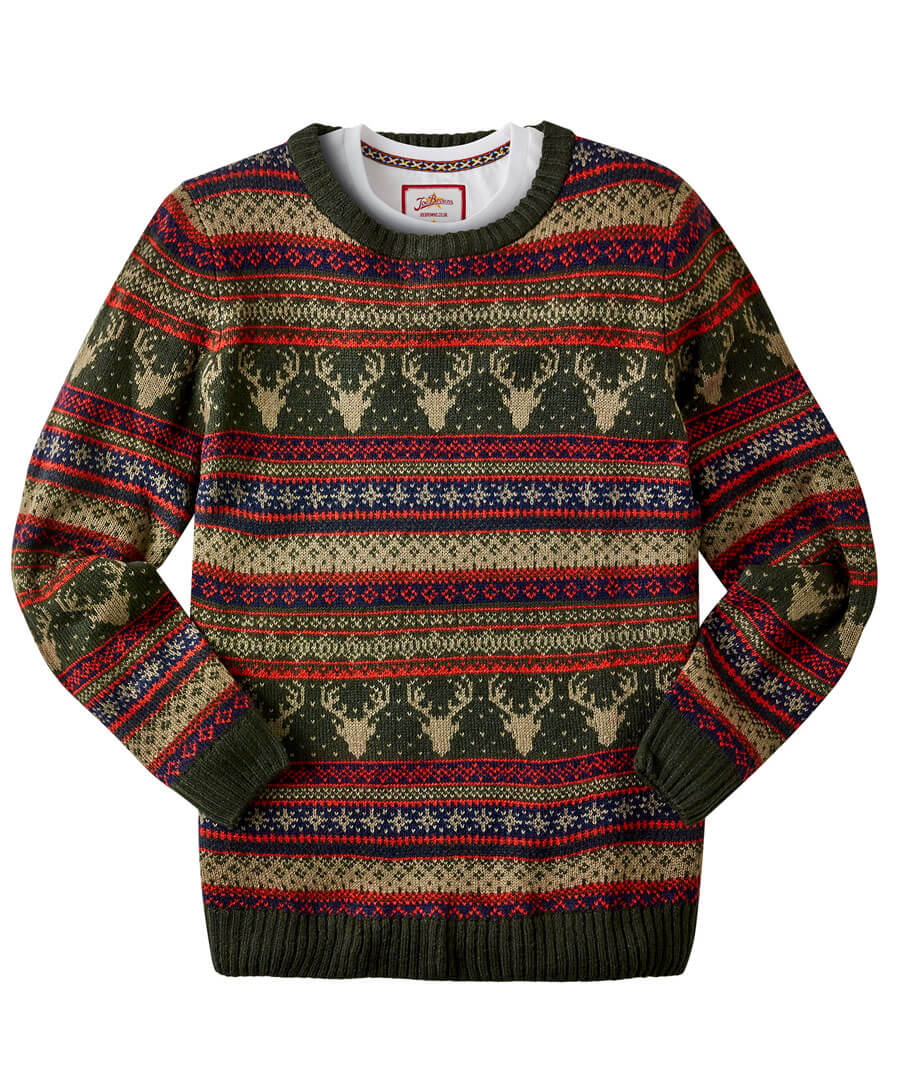 Men's Vintage Sweaters History Festive Fairisle Knit $39.00 AT vintagedancer.com