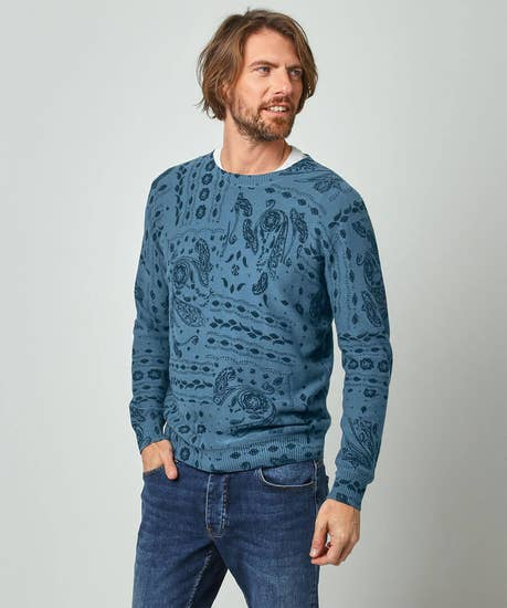 Paisley Print Knit
