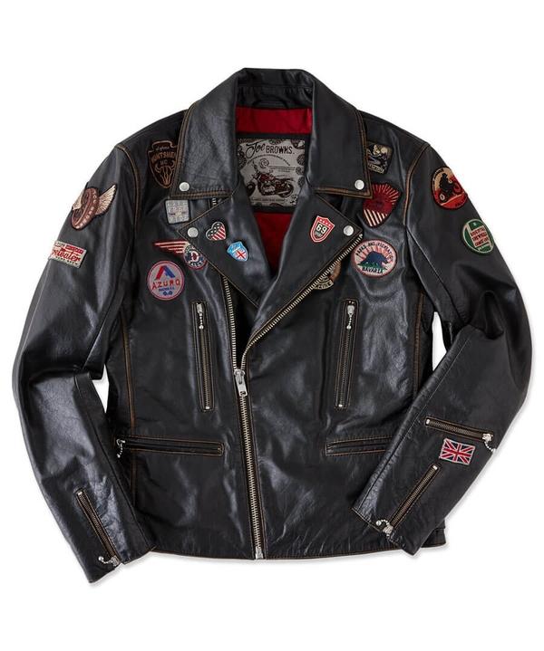 Badged Up Biker Leather