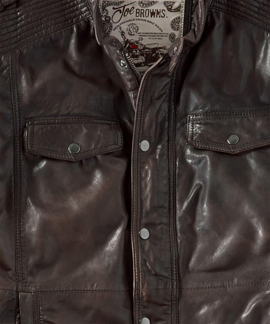 Rugged Leather Jacket Back