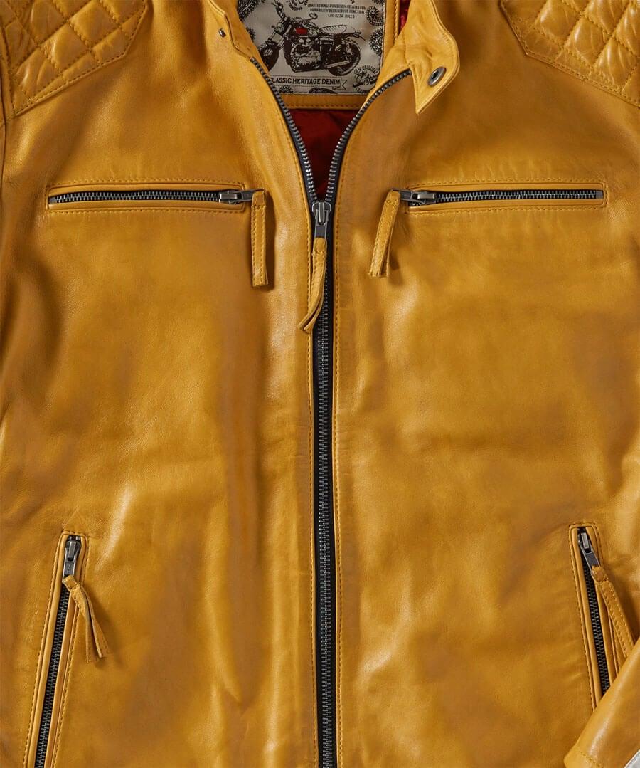 Road Holder Leather Jacket Back