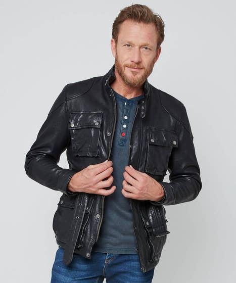 Perfect Pocket Leather Jacket