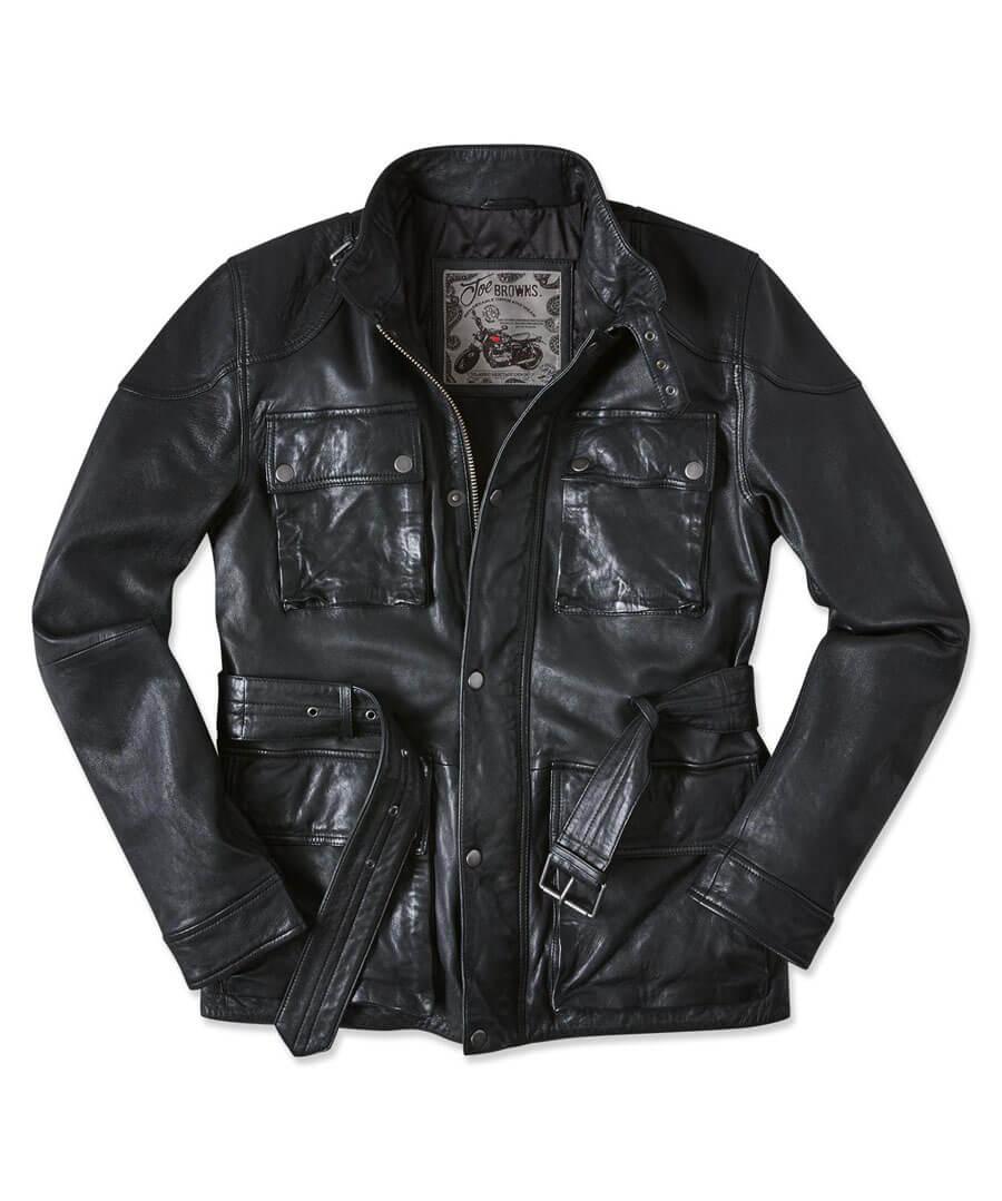 Perfect Pocket Leather Jacket Back